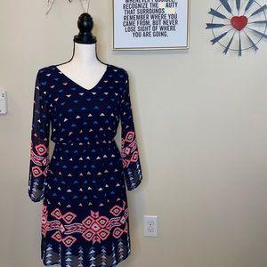 B1G1 GB Girls Aztec Print Dress (Juniors)